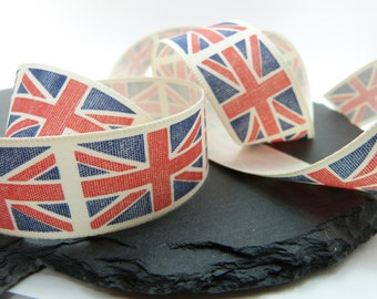 Union Jack Blue And Red Ribbon 25mm Berisfords The Home Front