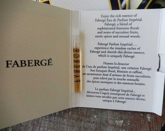 Faberge Imperial Perfume Samples 1.1 ml On Cards 1996