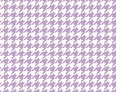 Lavender and White Houndstooth, Riley Blake Fabric, Cotton Sewing Material, Quilting, Clothing, Craft, Fat Quarter, 1 Yard, By The Yard