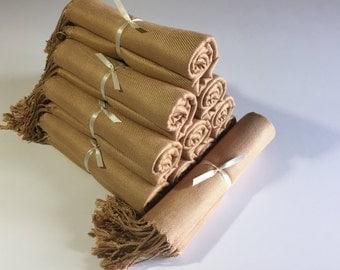 11 gold pashminas, 11 gold scarves, scarves, pashmina set,  gold pashmina scarf, shawls, wrap, bridal shawl, bridesmaid shawl, wedding favor