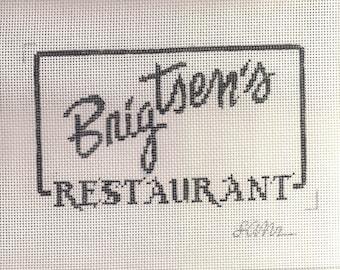 Brigtsen's Restaurant Needlepoint Canvas