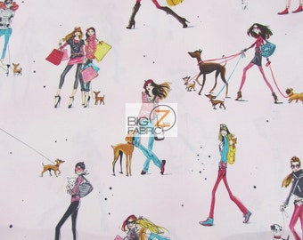 Who's That Girl 3 Pink By Robert Kaufman 100% Cotton Fabric - Sold By The Yard (FH-2461)