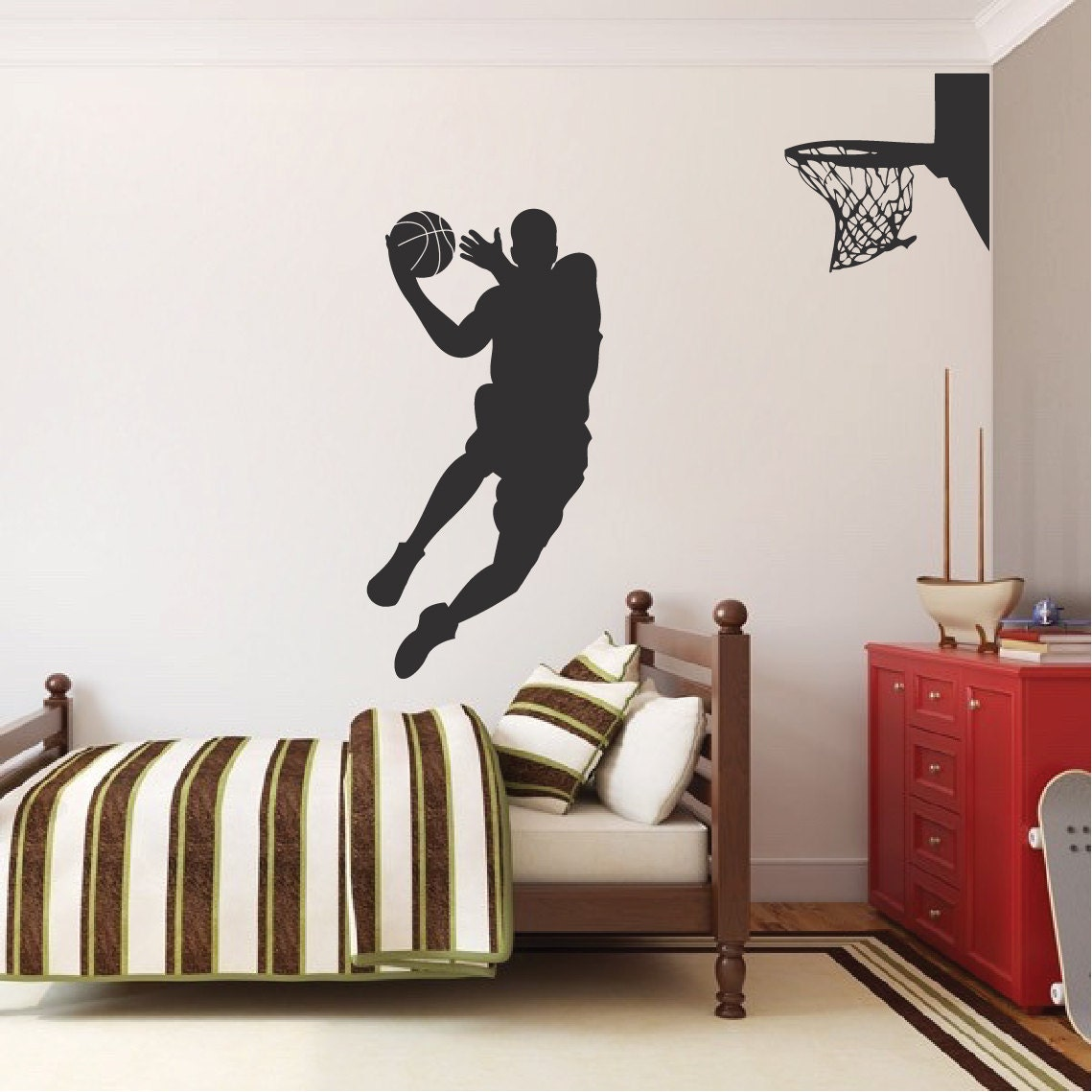 Basketball Player Wall Decal Jump Shoot Loop By