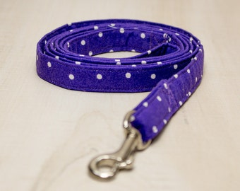Dog Leash, Purple and White Dog Leash
