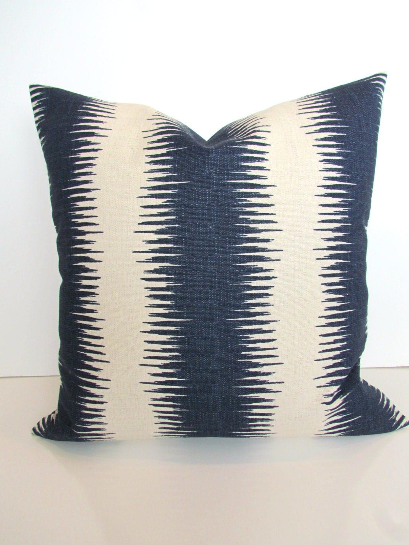 Blue stripe pillowEtsy