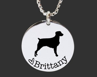 Brittany Necklace | Brittany Jewelry | Personalized Dog Necklace | 925 Sterling Silver Necklace by Korena Loves