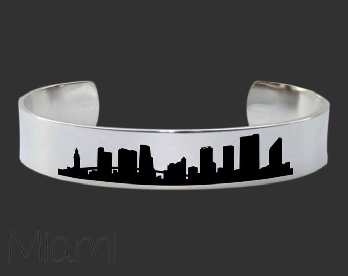 Miami Skyline | Cityscape Jewelry | Skyline Jewelry | Skyline Bracelet | Cityscape Bracelet | Friend Gift | Travel Gift | Jewelry