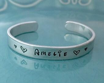 Toddler Bracelet,Children's Bracelet,Hand Stamped,Hand Stamped Bracelet,Custom Personalized,Personalized Gift,Hand Stamped Bracelet,child