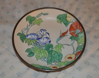 A Very Old Japanese Porcelain Dish Hand Decorated in Hong Kong