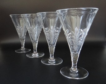 Set of Four Fostoria Baroque Water Goblets - Fostoria Goblets - Fostoria Stemware - Vintage Fostoria Glassware - Beautiful Water Goblets