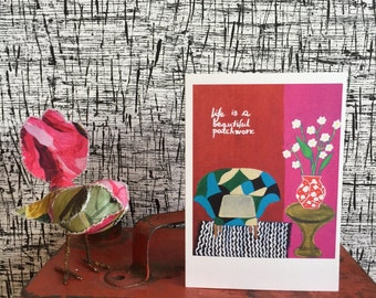 Art Card  Set Cards Greeting Cards Fine art card Gift Card Flower Cards Spring Card Blank Card Red Card