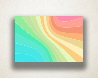 Abstract Rainbow Design Canvas Art Print, Gradient Pastel Wall Art, Abstract Canvas Print, Canvas Art, Canvas Print, Home Art, Wall Art
