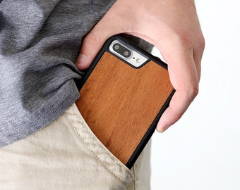 iPhone 7 Plus Wood Case, Cherry Wood iPhone 7 Plus Case, iPhone 7 Plus Wooden Case - SHK-C-I7P
