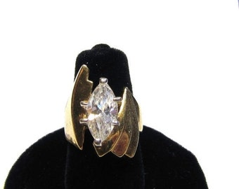 Swarovsk marquise crystal gold-tone Ring