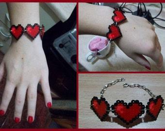 Triple Heart Bracelet (Hama MINI)