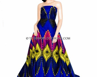 Wholesale Ankara Print/ African fabric/Java print/ African print/ Tissue Africain/ Fuchsia/Yellow Plume 6 yards WP864