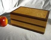 Gentleman's Box in Bird's Eye Maple and Walnut, Jewelry, Keepsake