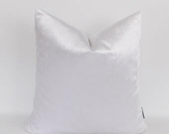 Velvet White Pillow Covers, Decorative Velvet Pillows, Throw Pillows,12,14,16,18,20,22,24,26,28,30 inch