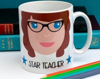 Personalised Best Teacher Mug Teacher Gift Personalised Mug Mug for Teacher Best Teacher Gift Leaving School Gift Favourite Teacher Gift