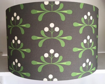 SALE* Grey floral mistletoe lampshade handmade in the uk