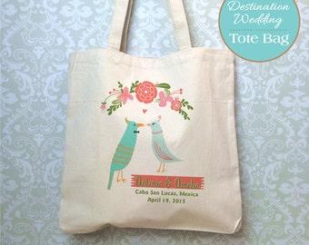 Love Birds, Destination Wedding Bag Design Proof, Wedding Welcome Bag, Wedding Favor, Destination Wedding Gift, Customized Wedding Gift