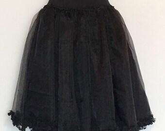Black Faery Gothic Tatterpunk Lace Tutu ~ Medium AU 12 US 10 ~ Fairy Festival Mori Witch Boho