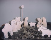 Unfinished  Nativity Set (large set)   Christmas  Memories