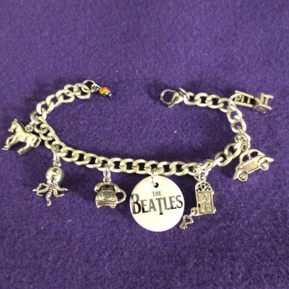 Beatles Charm Bracelet: The Beatles Memory Charm Bracelet By SharynKBeatlecrafts