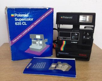 Vintage Polaroid 635CL Instant Camera in Original Box