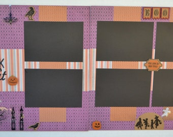 12x12 Two Page Pre-Made Layout - Trick or Treet