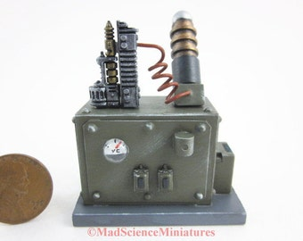 Mad Science Laboratory Equipment Dollhouse Miniature D215 1:12 Scale Model Spooky Weird Sci Fi Halloween Victorian Mad Scientist Lab OOAK