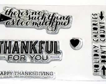 THANKFUL FOR YOU Rubber Stamp Set from Stampin Up Paper Pumpkin
