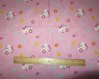 Pink Full Body Hello Kitty Fabric by The Yard