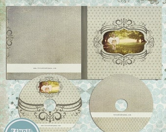 ON SALE cd/dvd Labels, Old Paper , psd templates, Photoshop Templates - INSTANT Download