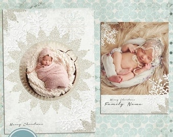 ON SALE INSTANT Download  - Photoshop Christmas, Photo  Card Template for Photographers vol.5