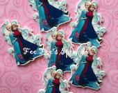 Frozen- Elsa & Anna cabochon- Flat back -Planar resin- Hair bow center Flatback resin
