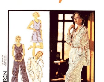 Style Sleepwear Pattern 1646 - Misses' Pajamas, Vest/Tank Top and Shorts - All Sizes Included