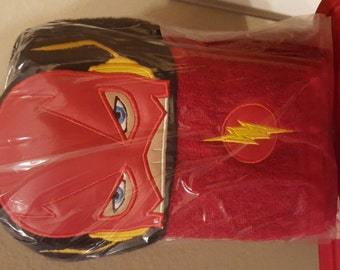 The Flash hooded towel with matching washcloth