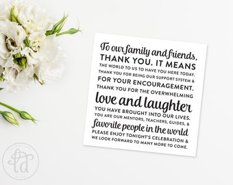 Wedding Thank You Card Printable - INSTANT DOWNLOAD