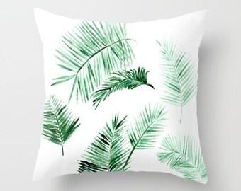 Modern Palm Leaf Throw Pillow Cover, palm leaf pillow, palm leaves pillow, palm leaf cushion, palm throw pillow, modern throw pillow