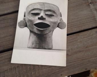 Mask photo postcard