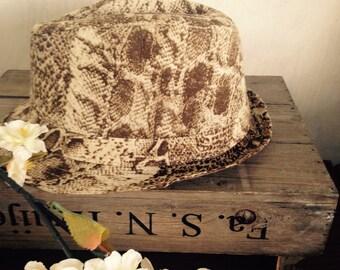 Snake print hat- boa animal