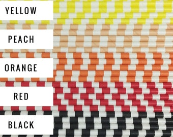 25 Rugby / Sailor Stripe Paper Straws / Cake Pop Sticks - Choose from 19 Colors