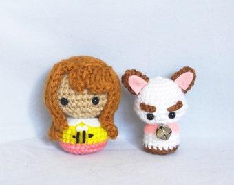 Bee and Puppycat Amigurumi Plush Crochet Doll