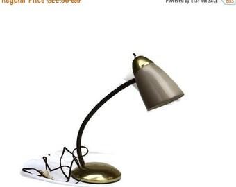 Vintage Goose Neck Lamp, Retro desk Lamp,  retro home decor, vintage desk lamp, reading light, Industrial light