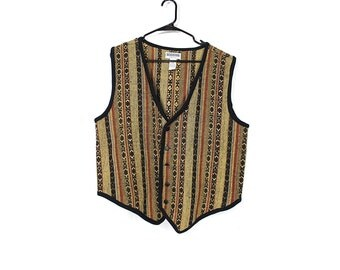 Oversized Tribal Print Vest