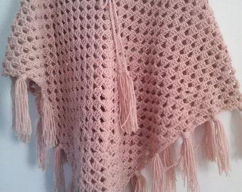 Albania Crochet Poncho with fringe