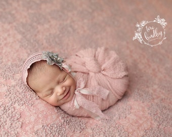 Newborn Photography Fabric Backdrop - Chaunva Backdrop in Dusty Rose - 2 Yards