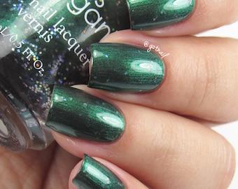 Green Nail Polish - Vegan Nail Polish - Shimmer Nail Polish - Wizards Collection - Cunning - Cruelty Free - Nail Art - Nails -Gifts Under 15