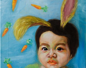 Savor the Fleeting Moments of Childhood | Custom Child Portrait Painting Commission | Oil Painting